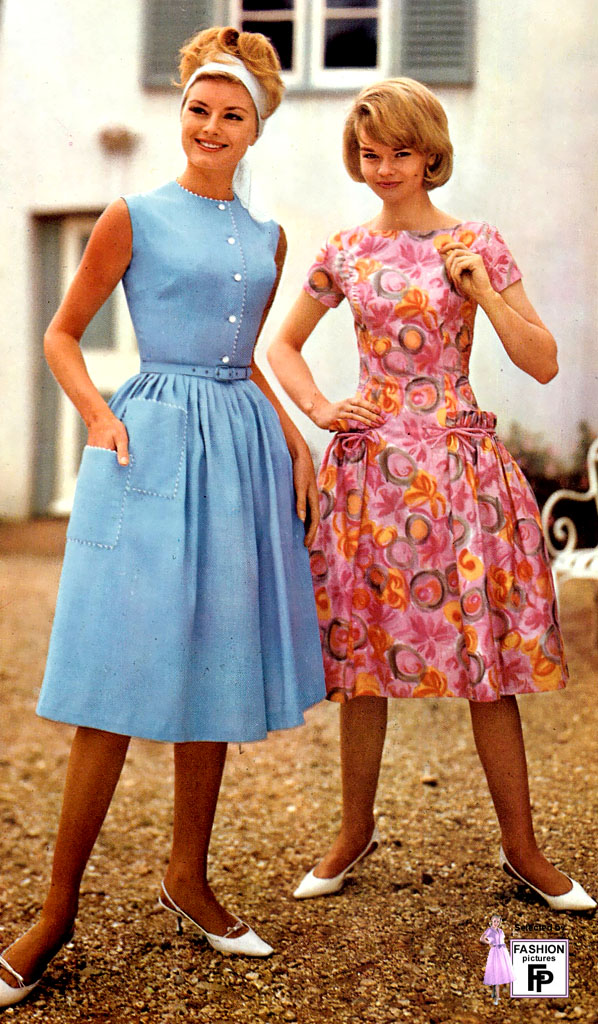 Summer Sleeveless Dresses In 1963 Fashion Pictures