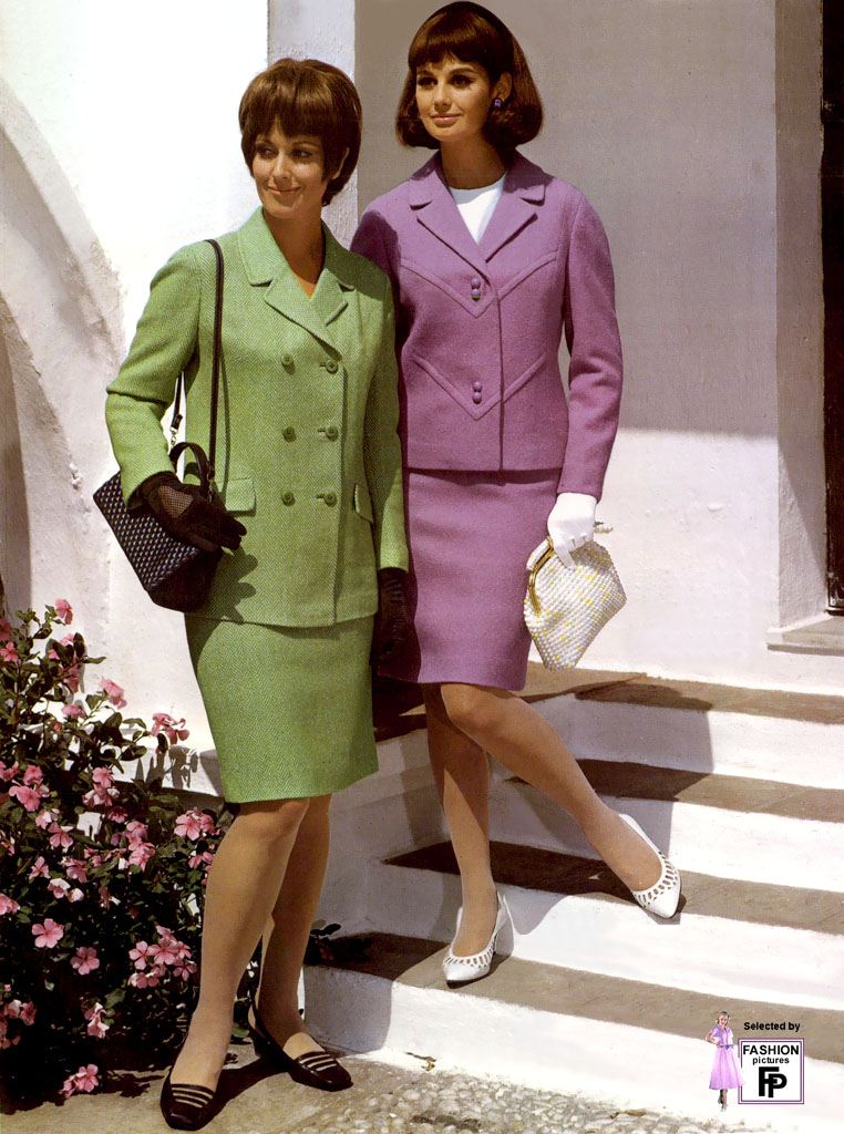 Smart Skirt Suits In 1968 Fashion Pictures