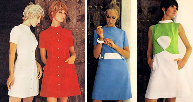 short dresses in 1970 fashion pictures