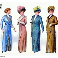 1912-dresses-skirt-suits-with-hats