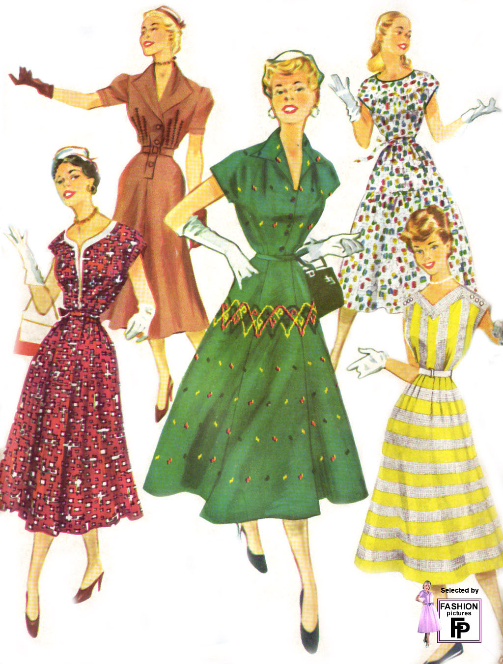 1950s fashion. Page 1 - Fashion Pictures