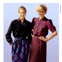 1980s fashion 1980-r0513-pleated-skirt-red0071