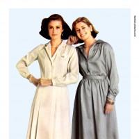 1980s fashion 1980-r0514-crepe-shirt-dress-red0124-1