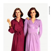 1980s fashion 1980-r0515-crepe-de-chine-dress-red0124-2