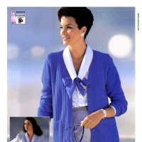 1990s fashion 1990-r0511-cardigan-tie-bow-blouse-1tra0173