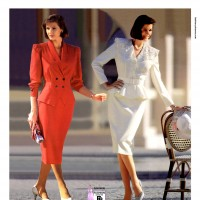 1990s fashion 1990-r0512-smart-skirt-suit-1tra0186-0189